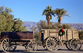 Kerstmis borax wagons death valley nationaal park californië — Stockfoto