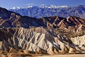 Zabruski Point Snowy Panamint Mountains Death Valley National Pa — Stock Photo