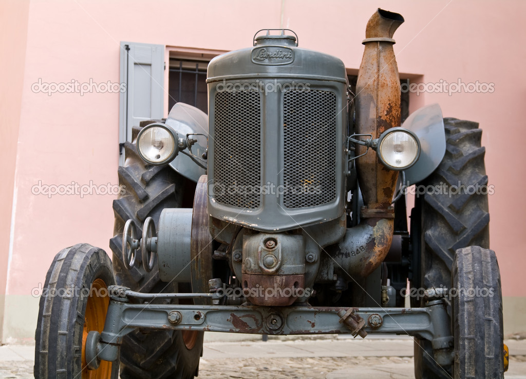 Old model of tractor, renovated to be in superb condition  Stock Photo #6944056