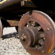 Wagon with wooden wheels — Stock Photo