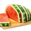 Watermelon on a white — Stock Photo