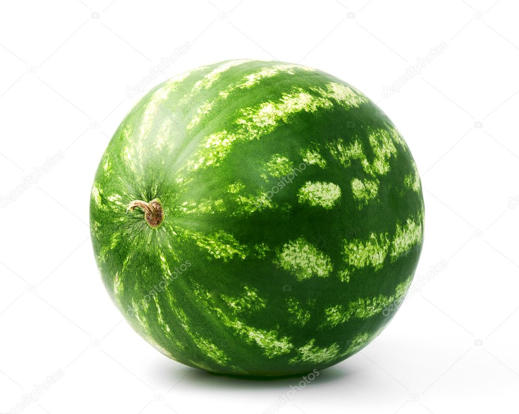 The whole  water-melon on a white background  Stock Photo #6888893