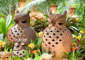 Ceramic owls — Stock Photo