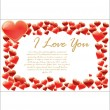 Love card — Stock Vector