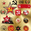 Royalty-Free Stock Vector Image: Communist signs