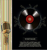 Retro music background — Vector de stock