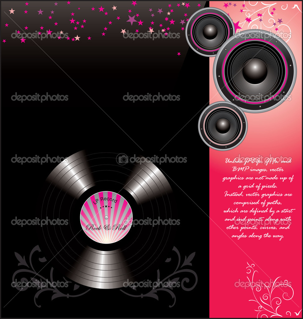 Retro music background — Stock Vector #6824866