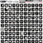 sociální media ikony - černá vydání - finální vektor — Stock vektor