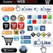 Web buttons big pack — Stock Vector #6906396