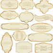 Set of golden labels - Stock Vector