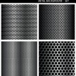 Royalty-Free Stock Vector Image: Metal Grill - set