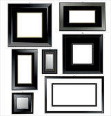 Empty black Frames — Stock Vector