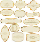 Set of golden labels — Stock Vector