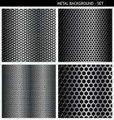 металлический гриль - набор — Cтоковый вектор