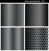 Metal ızgara - ayarla — Stok Vektör