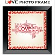 Love photo frame — Stock Vector