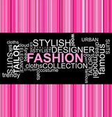 FASHION - Word collage — Stock Vector