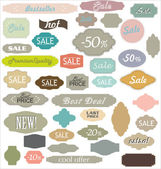 Vintage Sale Labels — Stock Vector