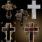Elegant Crosses — Stock Vector #7097786