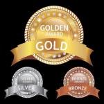 Golden luxury labels - award — Stock Vector #7097799