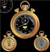 Golden Stopwatch — Stock Vector