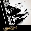 I love jazz - background - Stock Vector