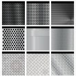 Metal texture 9 set. Illustration vector. - Stock Vector
