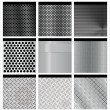Metal texture 9 set. Illustration vector. — Stockvectorbeeld