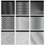 Metal texture 9 set. Illustration vector. — Stock Vector