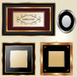 Set of picture frames — Stockvektor