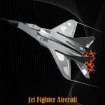 Military aircraft — Stock Vector