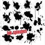 Ink splashes - grunge — Stock Vector