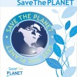 Save the planet background — Stock Vector