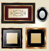 Set of picture frames — Stock Vector