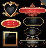 Ornate decorative golden vector frames — Stock Vector