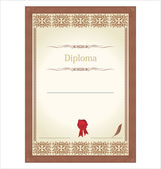 Vintage frame, certificate or diploma template — Stock Vector