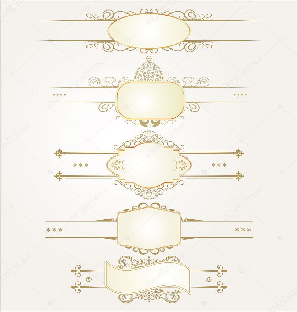 Decorative ornate elements with calligraphic elements — Stock Vector #7545918