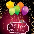 Vector de stock : Happy birthday greeting card