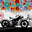 Stock Vector: Retro Vector background with a motorcycle