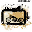 Retro vector background with a motorcycle — Stock Vector #7892468