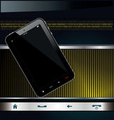 глянцевый современный смартфон фон — Cтоковый вектор