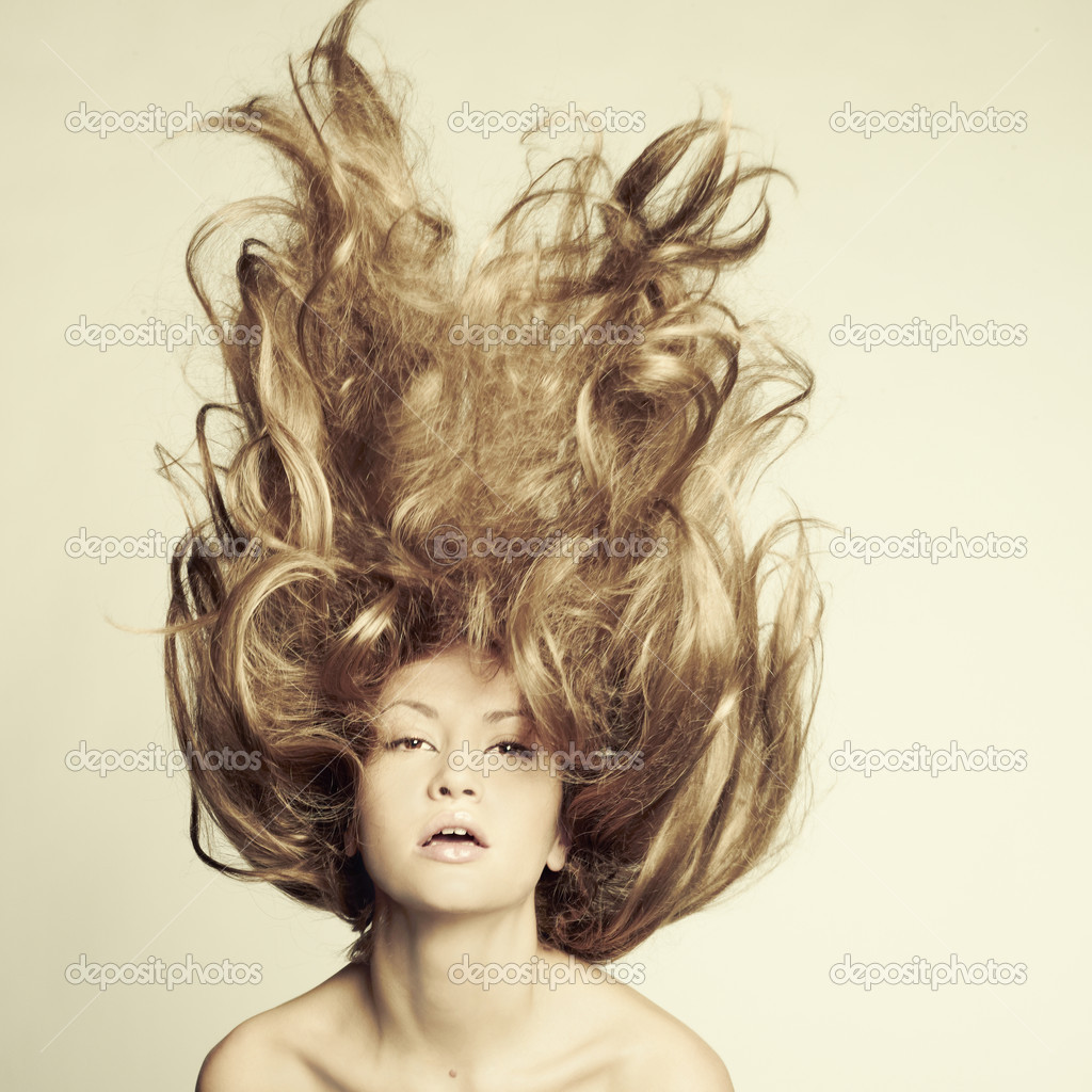 Photo of beautiful woman with magnificent hair — Stock Photo #7880126