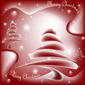Noel ağacını dilek kartı — Stok Vektör