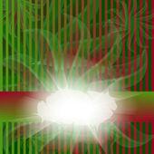 Tarjeta roja y verde rayada — Vector de stock