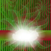 çizgili kırmızı ve yeşil kart — Stok Vektör