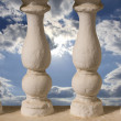 Royalty-Free Stock Photo: Baluster or little columns and sky behind it
