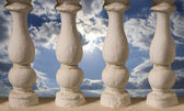 Baluster or little columns and sky behind it — Stock Photo