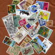 Different stamps collection — Stock Photo