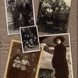Collection of old family photos — Foto de Stock