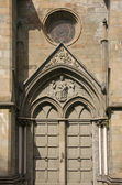 Side door of the Nidaros Cathedral in Trondheim, Norway — Stock Photo